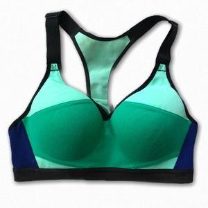 Victoria's Secret VSX sports bra Navy Green 32C